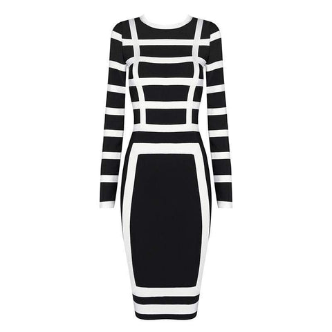 'Ciara' Round Neck Midi Bodycon Dress