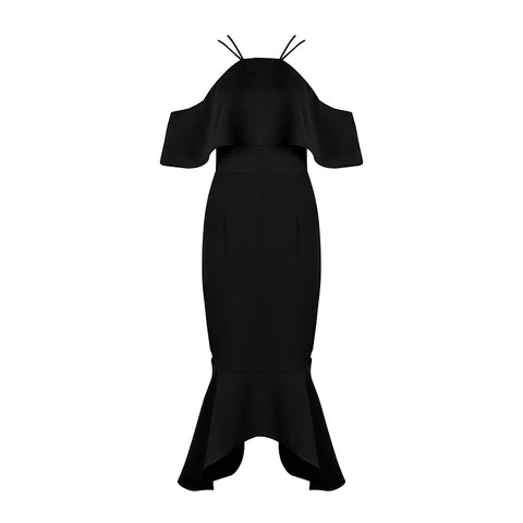 'Holly' Off Shoulder Long Bodycon Dress