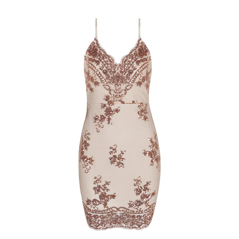 'Iris' Glitter Mini Bodycon Dress