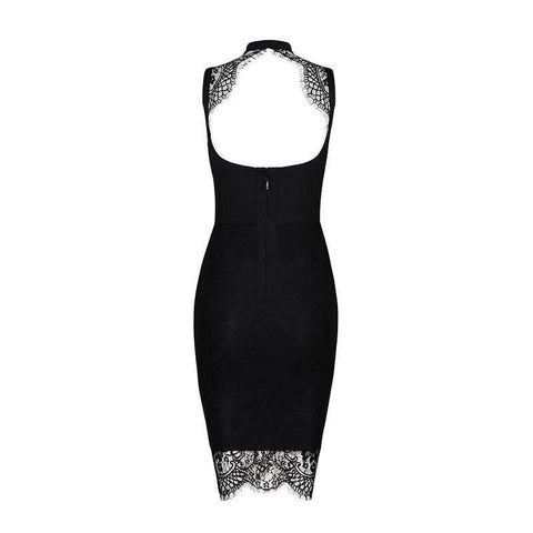 'Aaliyah' Cut Out Lace Mini Bodycon Dress