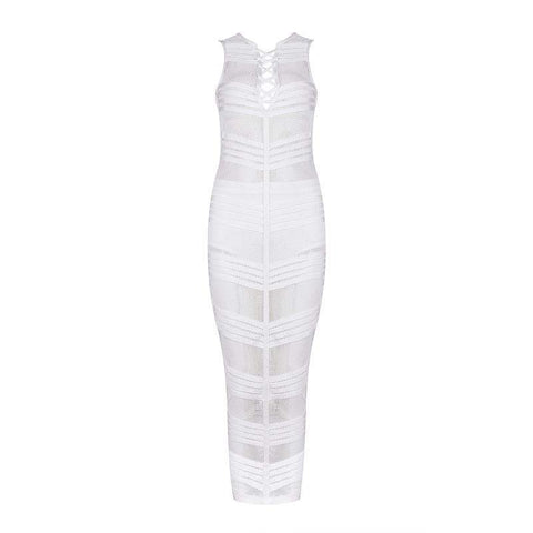 'Chloe' Cut Out Maxi Bodycon Dress
