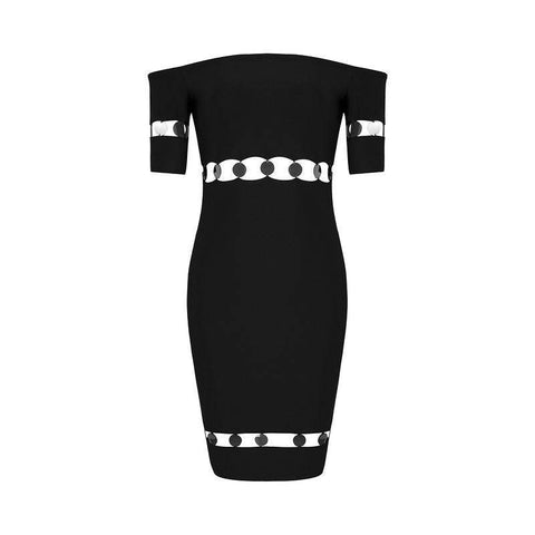 'Charlotte' Off Shoulder Mini Bodycon Dress