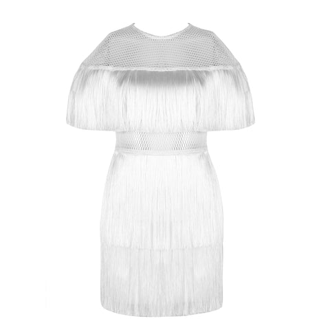 'Dawn' Fringe Mini Bandage Dress