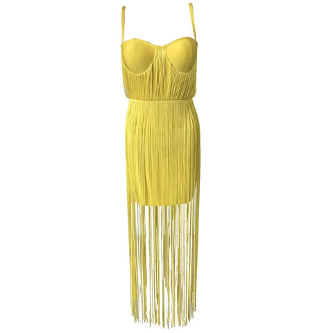 'Frances' Fringe Mini Bodycon Dress