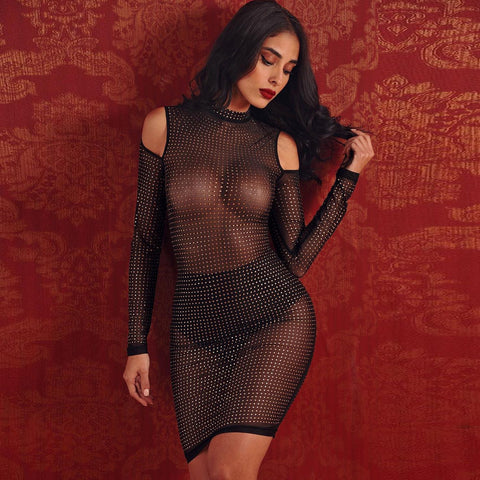 'Francesca' See Through Midi Bodycon Dress