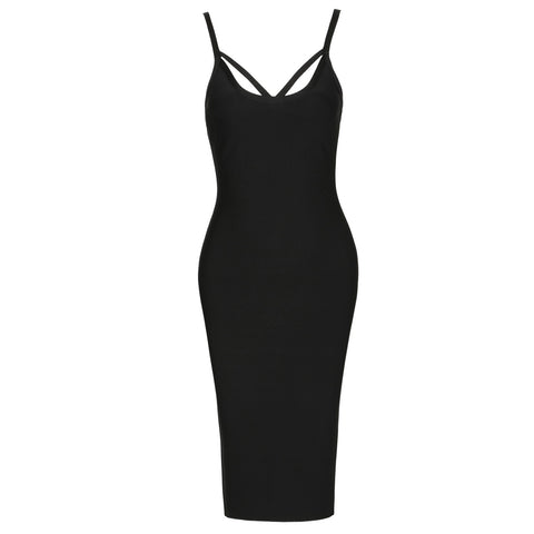 'Cacey' Cut Out Midi Bodycon Dress