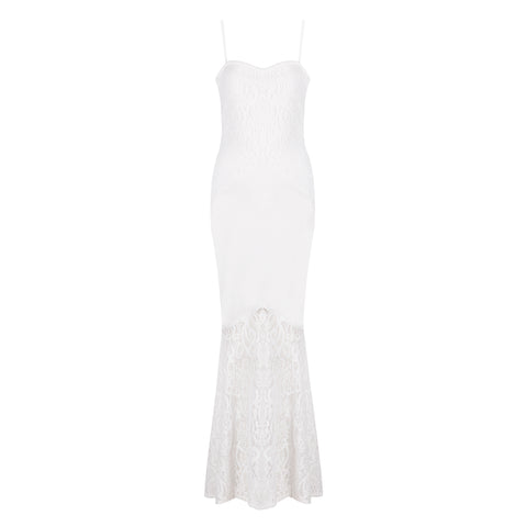 'Gigi' Lace Long Bodycon Dress