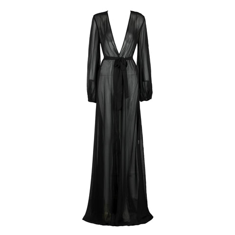 'Gillian' See Through Long Maxi Dress