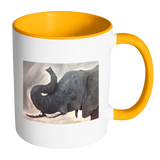 Elephant Accent Mug 11oz - Available in a Wide Range Of Colours
