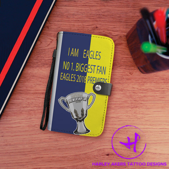 West Coast Eagles Premier Wallet Phone Case