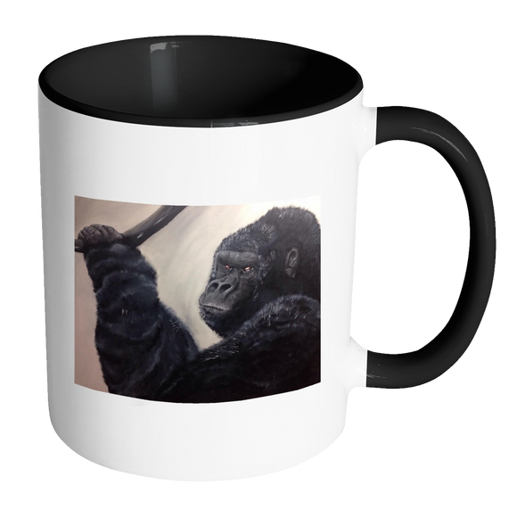 Gorilla Accent Mugs 11oz - Available in a wide Range of colours
