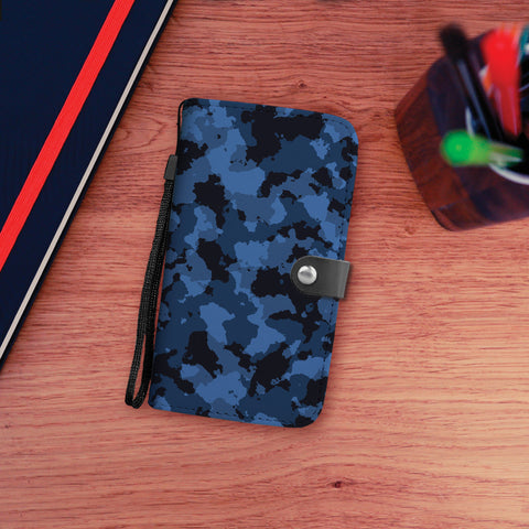 Blue Camo Wallet Phone Case
