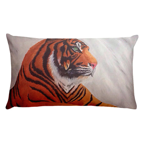 Tiger Rectangular Pillow With Insert