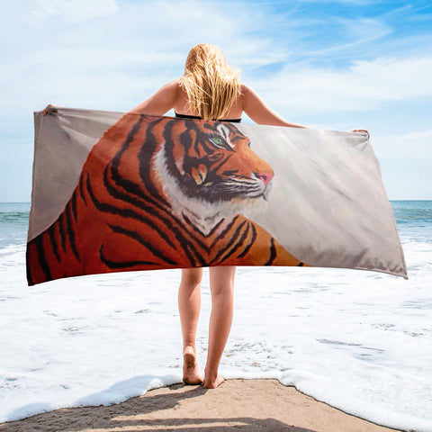 Tiger Beach Towel