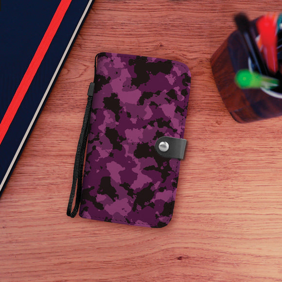 Pink/Purple Camo Wallet Phone Case