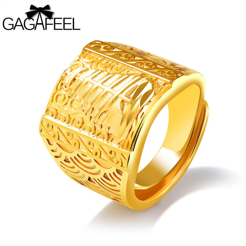 BAMOER Classic Wedding Finger Ring Rose Gold Color Rings with ...