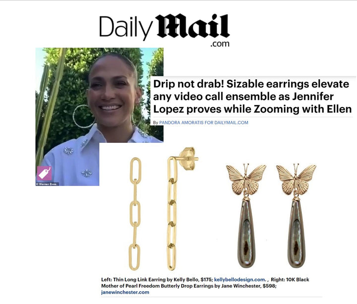 Video Meetings? Daily Mail says big earrings are the way to go!