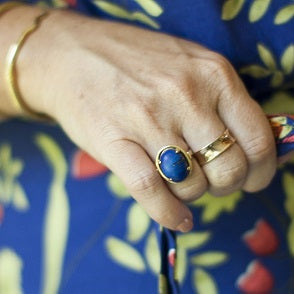 Where does my jewelry obsession come from? THE BLUE RING