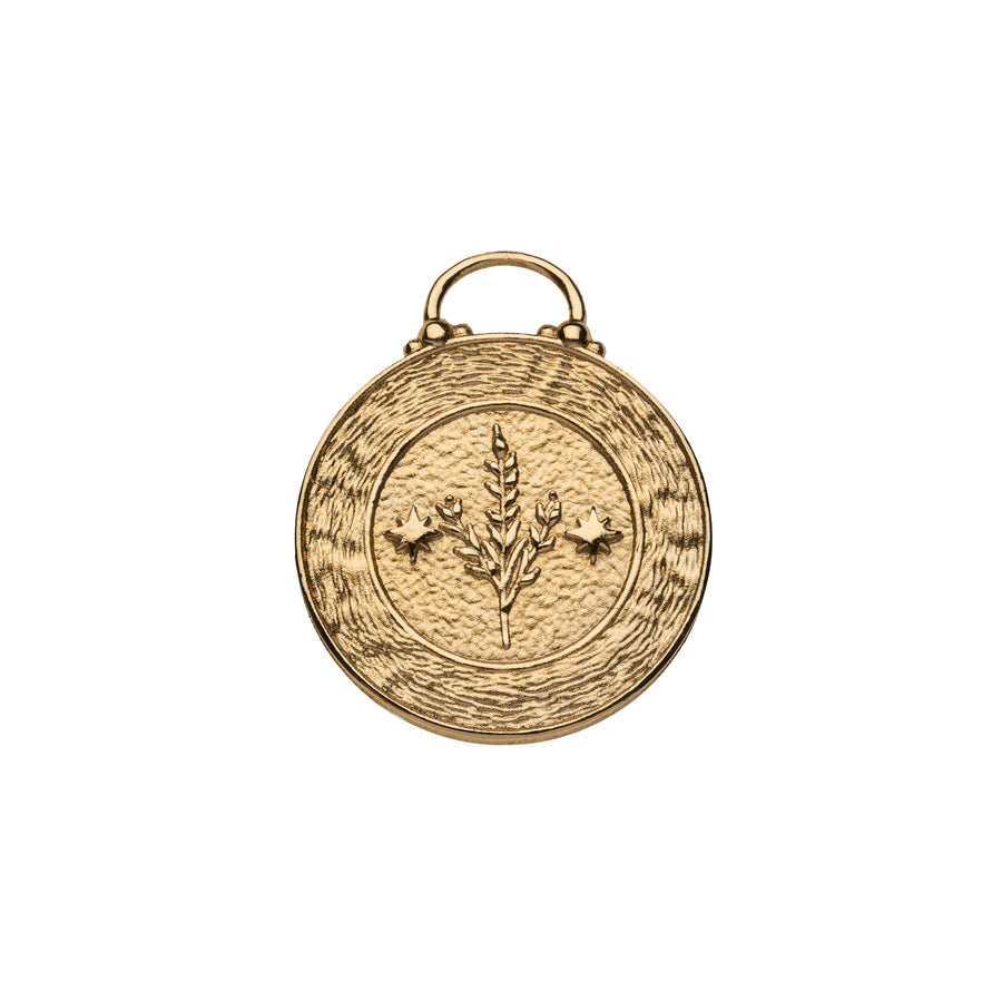 VIRGO JW Small Zodiac Pendant Coin - Aug 23 - Sep 22