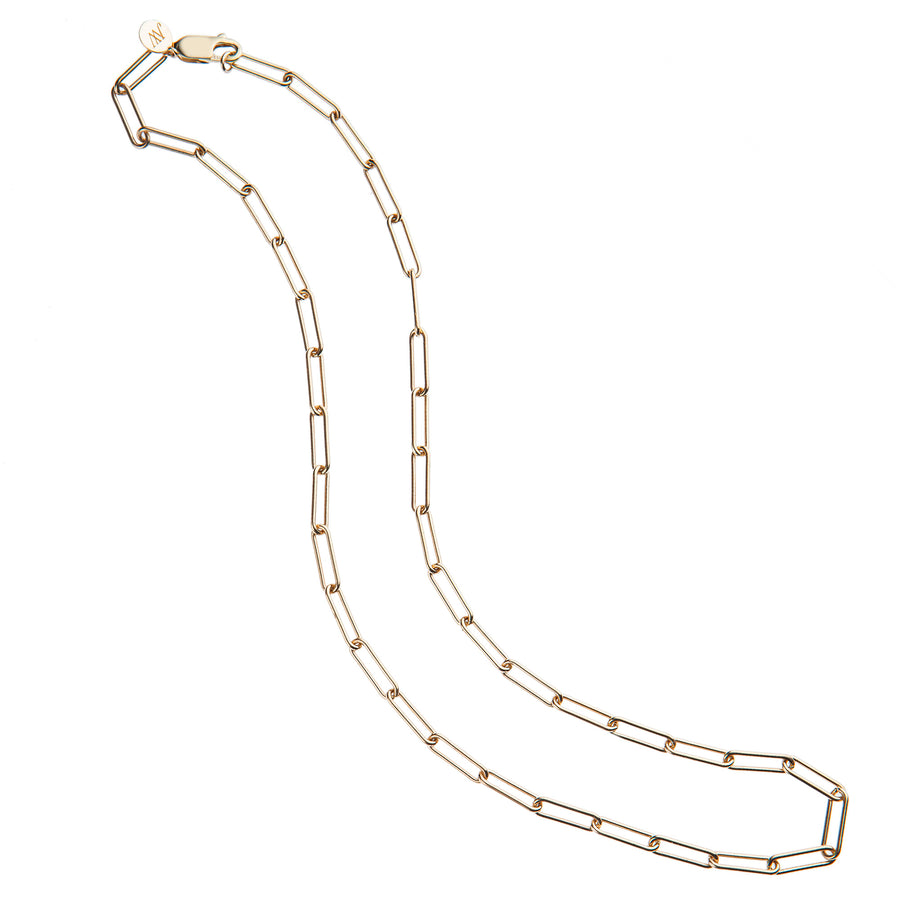 Long Link 14k Gold Necklace