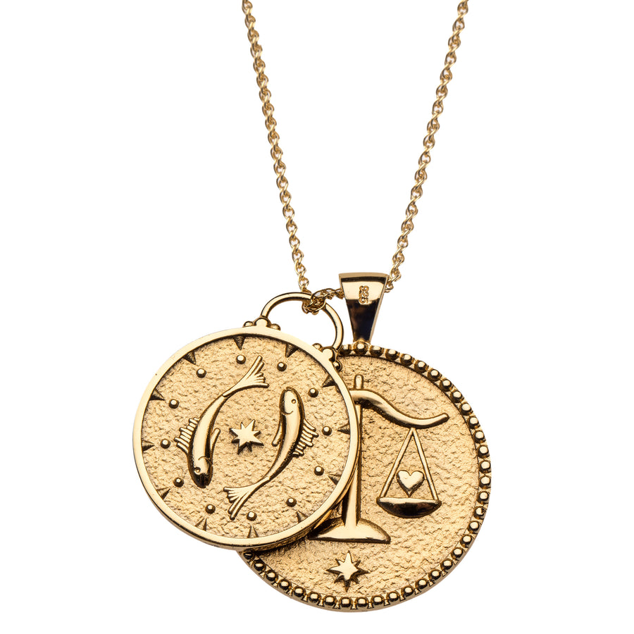 SCORPIO JW Small Zodiac Pendant Coin - Oct 23 - Nov 21