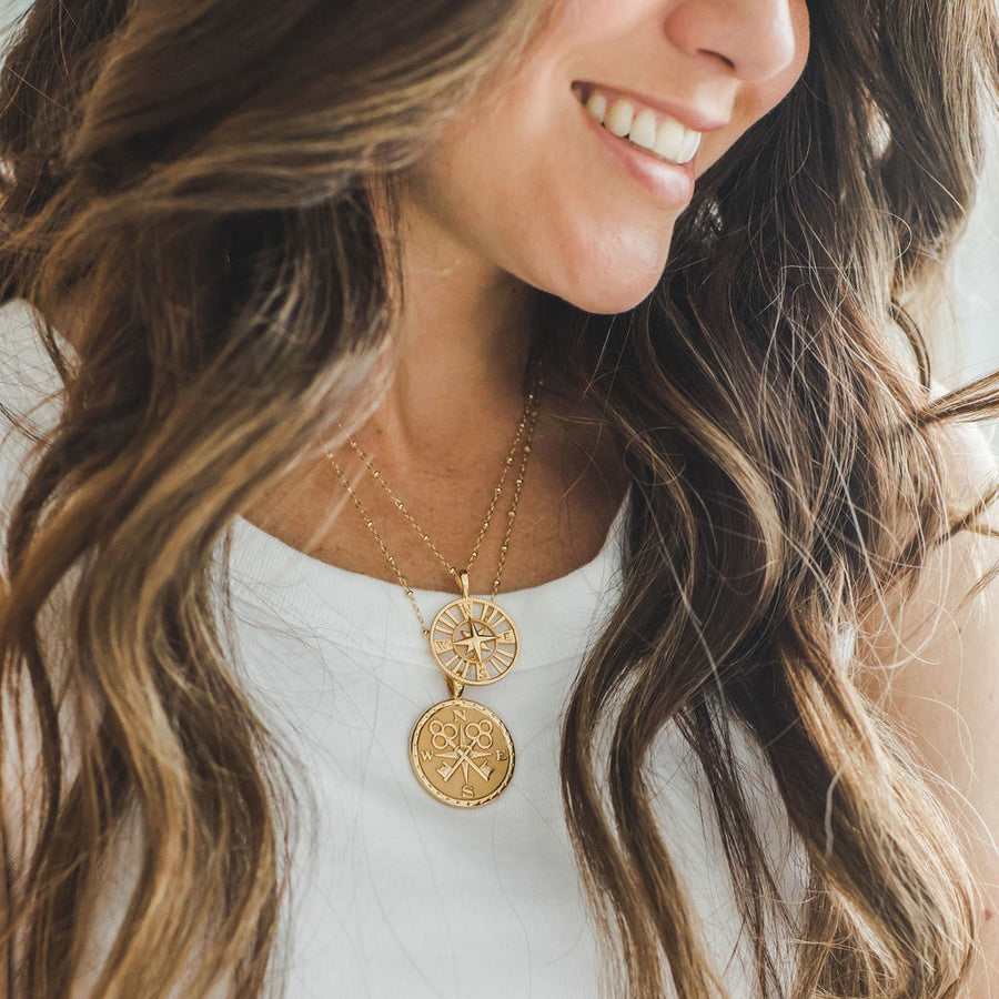 FOREVER JW Cutout Pendant Coin