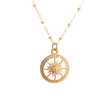 STRONG Sun Charm Pendant Necklace