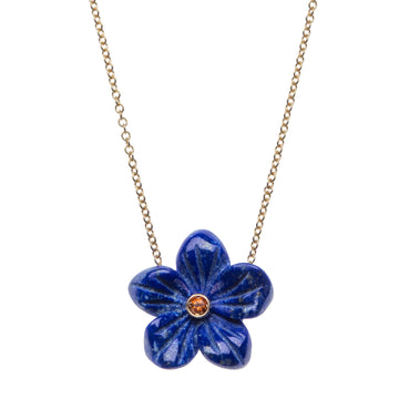 JOY Lapis Flower  Necklace