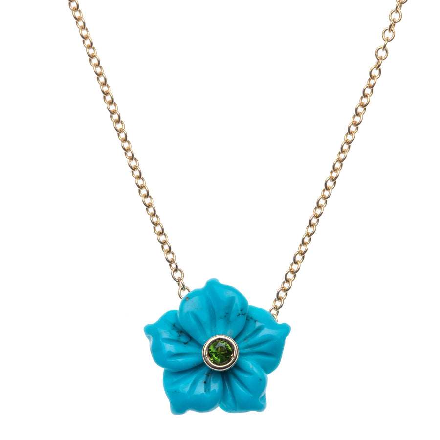 JOY Mini Turquoise Flower Necklace