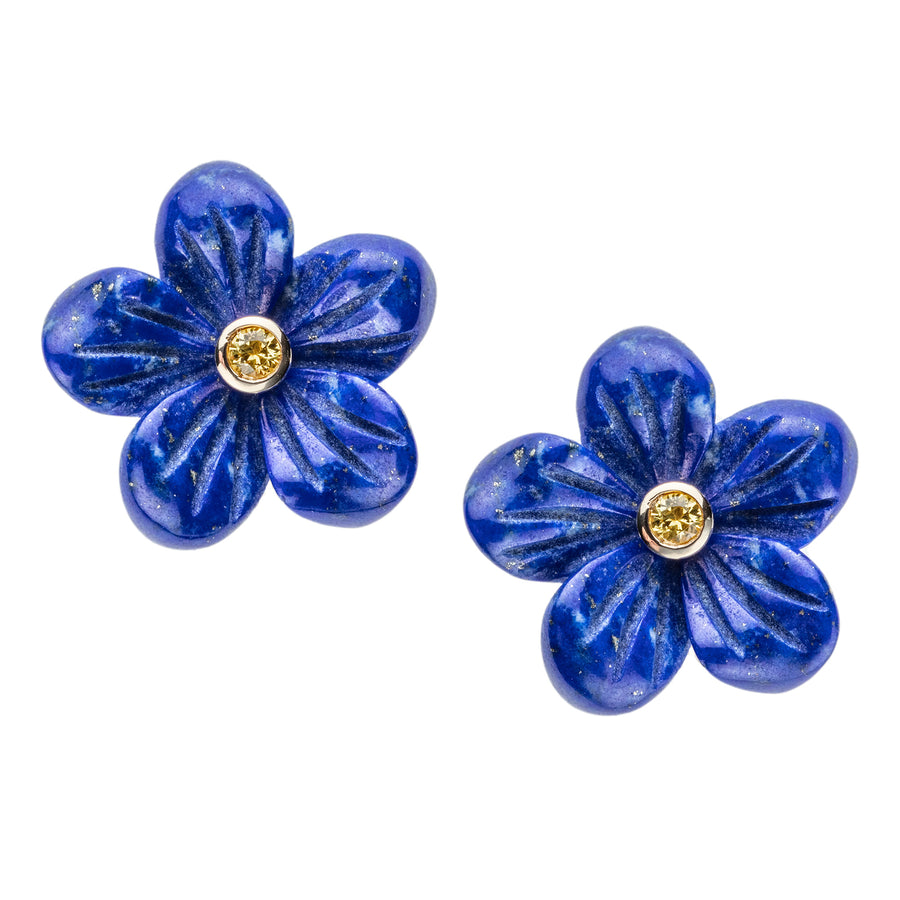 JOY Flower Bud Earrings in Lapis