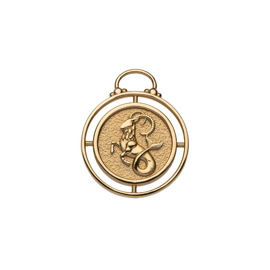 CAPRICORN JW Small Zodiac Pendant Coin - Dec 22 - Jan 19
