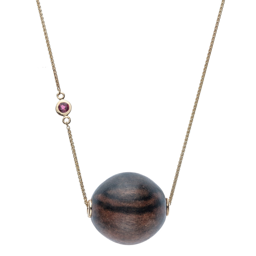 STRONG Driftwood Bubble Pendant Necklace with 14k Gold