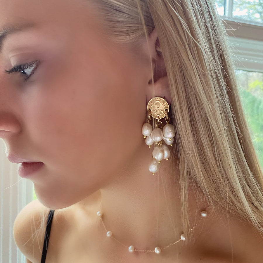 LOVE Cocktail Pearl Earrings