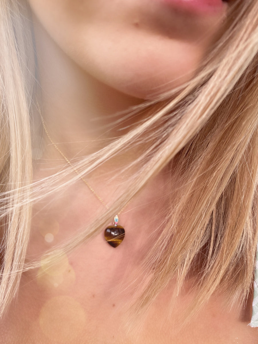 LOVIES Tigers Eye Heart (LOVE Collection)