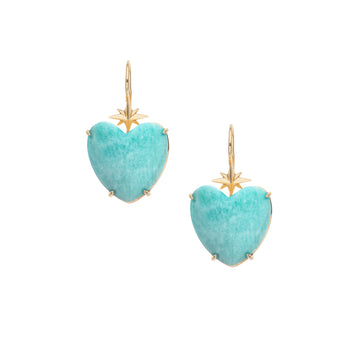 LOVE Amazonite Heart Earrings