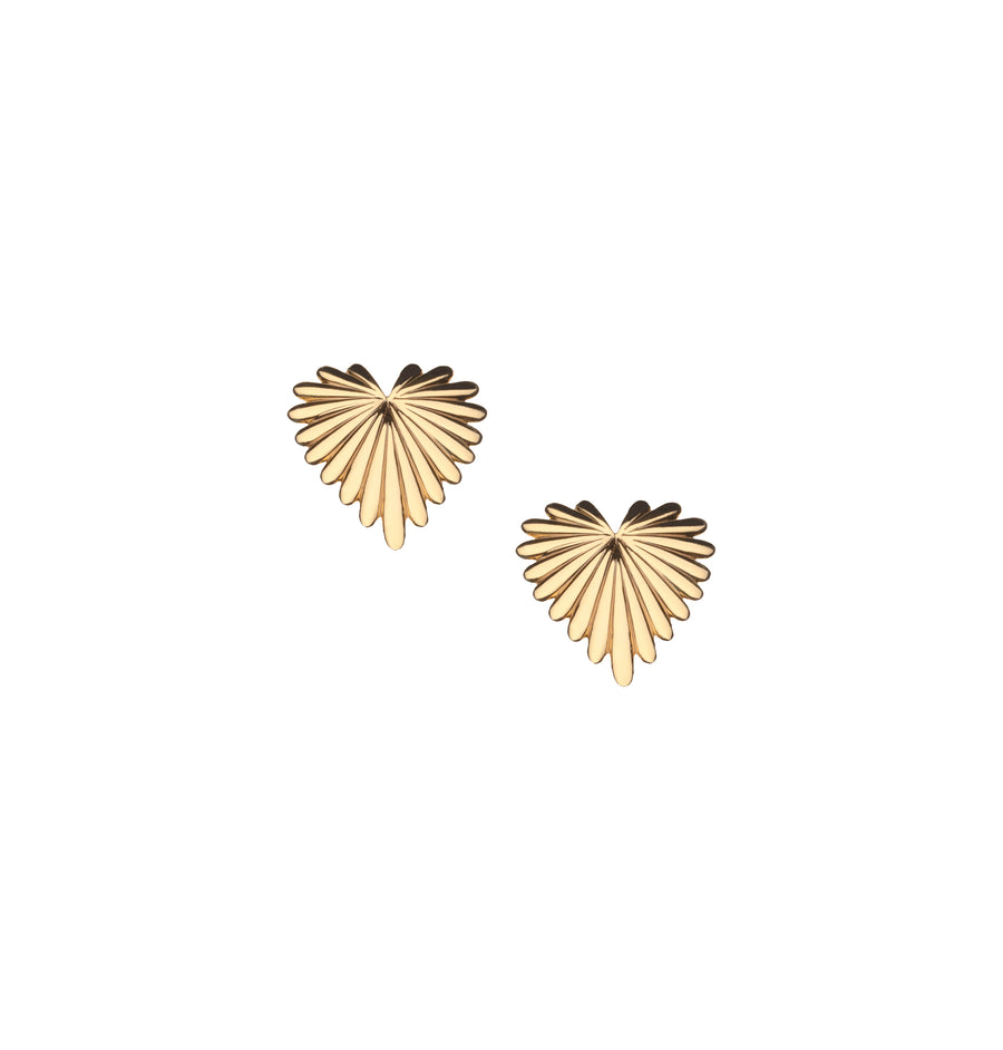 Baby Full Heart Love Earrings 10k Gold