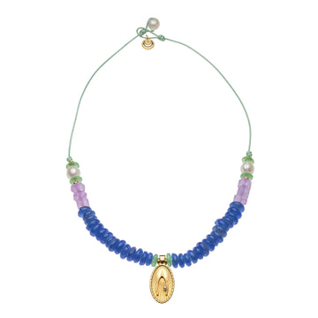 Blue Grotto Bead Necklace (STRONG Collection)