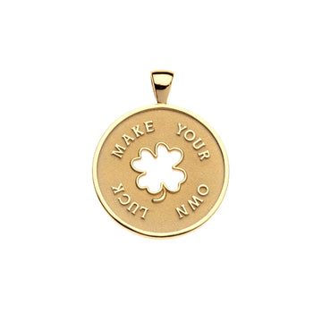 Lucky JW 'Make Your Own Luck' Pendant Coin