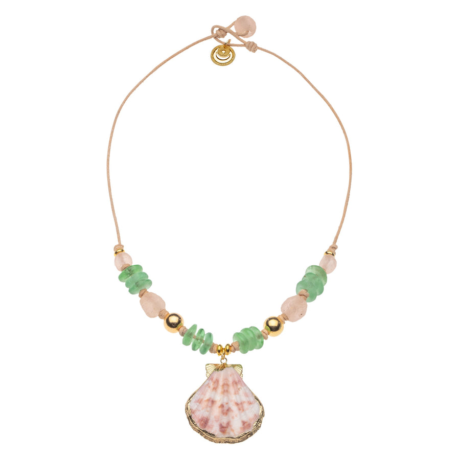 Capri Shell Bead Necklace (STRONG Collection)