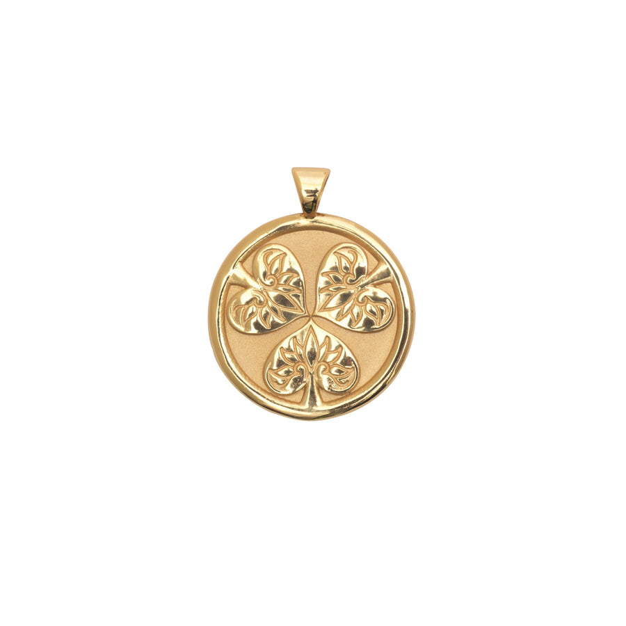 JOY JW Small Pendant Coin in Solid Gold