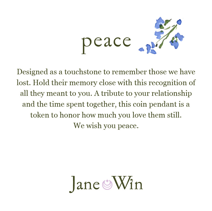 PEACE JW Original Pendant Coin in Silver