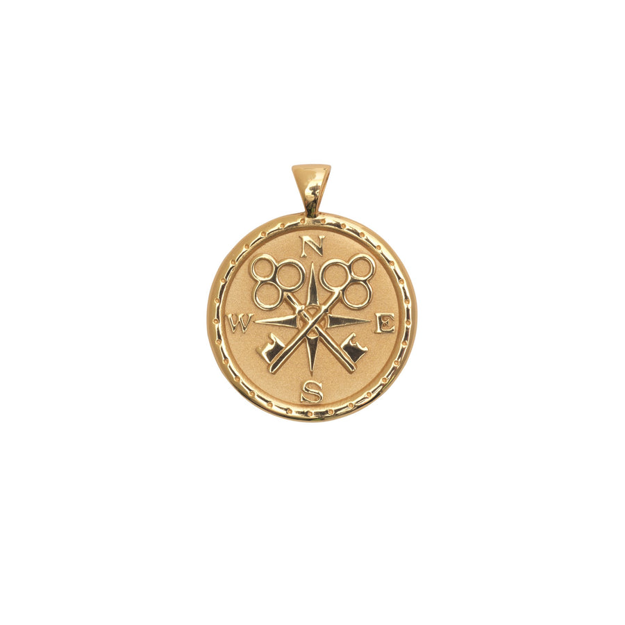 FOREVER JW Small Pendant Coin in Solid Gold