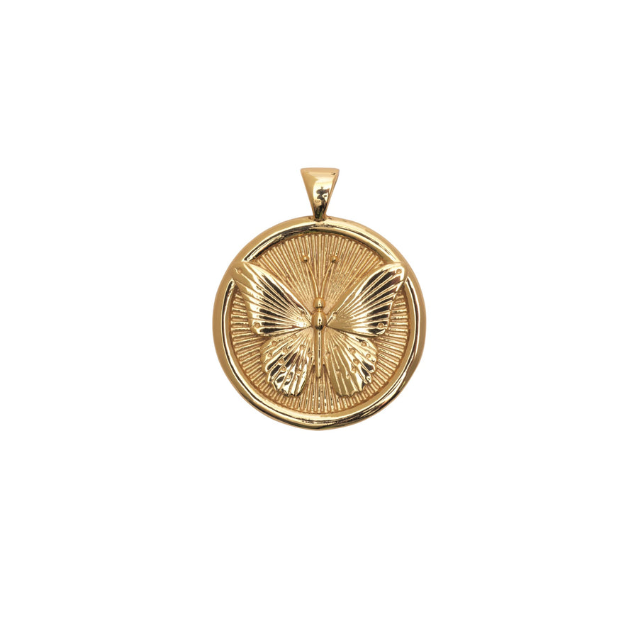 FREE JW Small Pendant Coin in Solid Gold