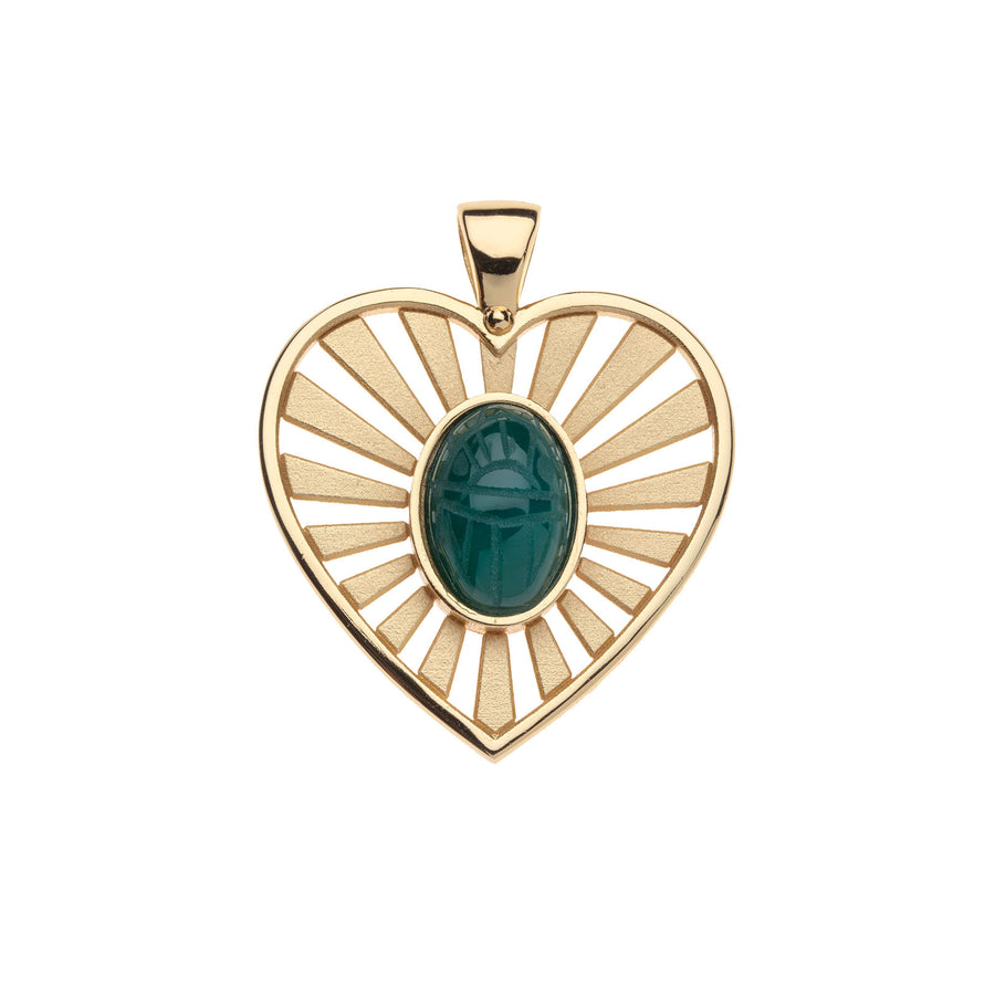 PROTECT JW Scarab Heart Pendant