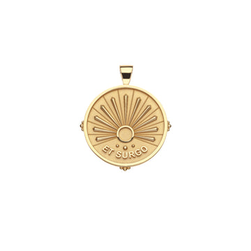 STRONG JW Small Pendant Coin in Solid Gold (Et Surgo)