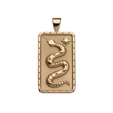 Protect Dog Tag Snake Pendant