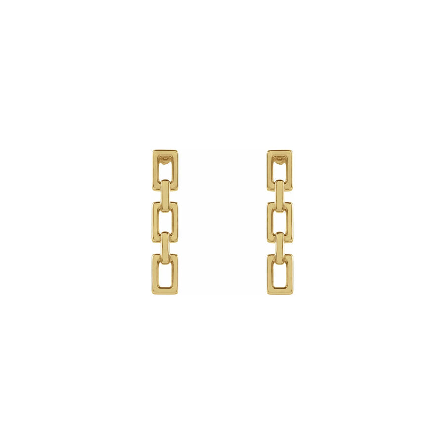 STRONG Chain 14k Gold Earrings
