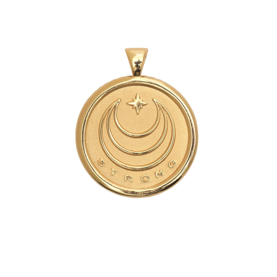 STRONG JW Original Pendant Coin Solid Gold
