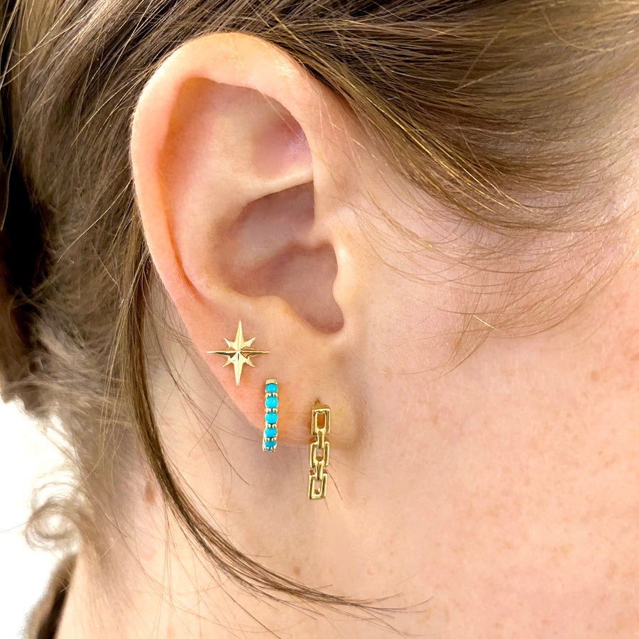 FOREVER North Star 14k Gold Earrings