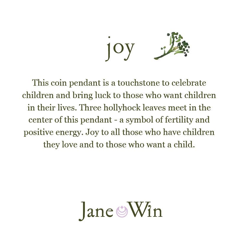 JOY JW Original Pendant Coin in Silver
